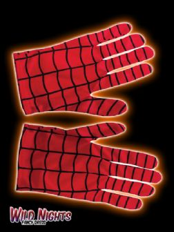MENS SPIDERMAN GLOVES MARVEL FANCY DRESS COSTUME ACCESSORY